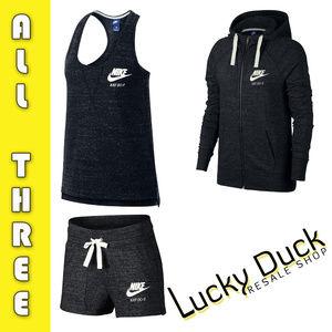 NEW Nike Sportswear Gym Tank, Hoodie, & Shorts Set